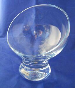 Ichendorf-Milano-Crystal-Glass-Dessert-Slanted-Rim-Mid-Century