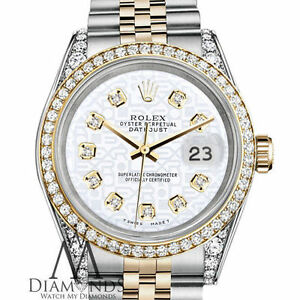0705f338e1f0 Ladies Rolex Steel   Gold 26mm Datejust White Jubilee Diamond Dial ...