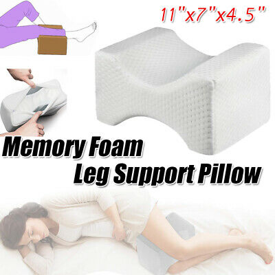 Double-side Pillow Knee Leg Support For Sleeping Reading Cushion Memory Foam USA