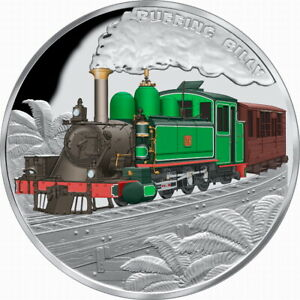 Niue-2020-Puffing-Billy-Railway-Locomotive-Train-1-Oz-Pure-Silver-Proof-in-OGP