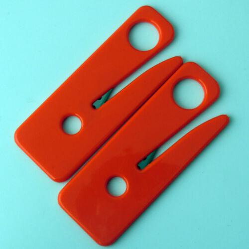 2pcs Seat Belt Cutters Stainless Steel Razor Sharp Blade Seatbelt Cutter RED