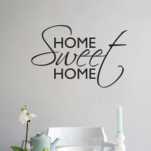 Home sweet home wall sticker vinyl art home wall beautiful Home sweet home wall decor