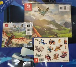 Monster Hunter Stories 2 Pre Order Bundle - Poster - Cloth - Stickers - NO GAME
