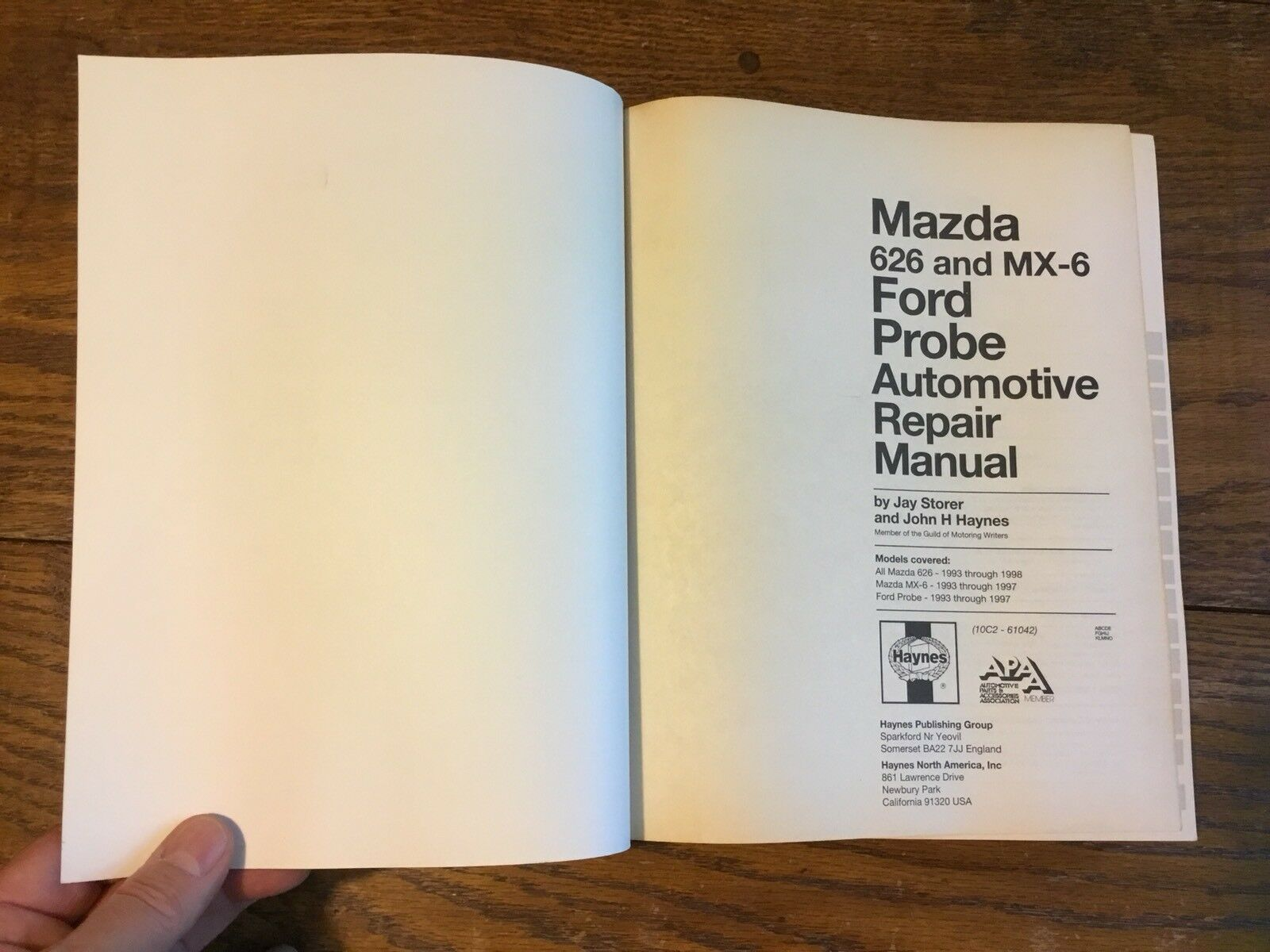 Haynes 61042 Repair Manual MAZDA 616 & Mx-6 Ford Probe 1993 - 1998 All  Models | eBay