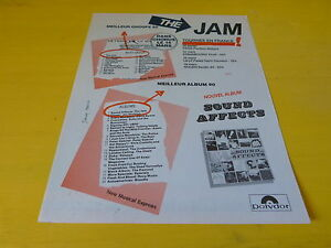 THE-JAM-Publicite-de-magazine-Advert-SOUND-AFFECTS