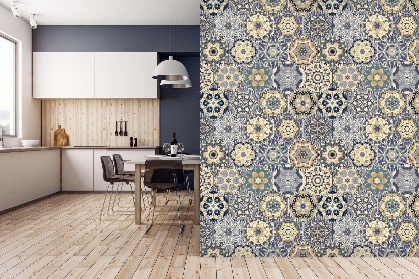 3D Spitze Muster 8435 Textur Fliesen Marmor Tapeten Abziehbild Tapete Wandbild