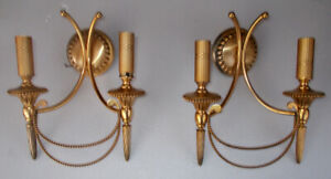 Pair-wall-lamp-sconces-in-gold-brass-by-Gaetano-Sciolari-style-Hollywood-Regency