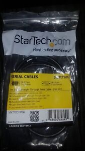 M//F StarTech MXT1001MBK 1m Black Straight Through DB9 RS232 Serial Cable