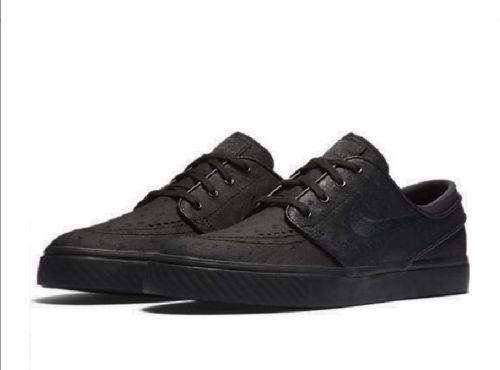 Los hombres de Nike SB zoom zapatos Stefan Janoski cuero skate zapatos zoom Negro 616490 007 f0d691