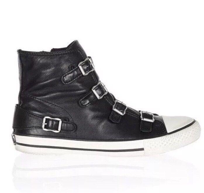 NIB ASH Women's Virgin Fashion Sneaker Black Size 36 EU/6 M US