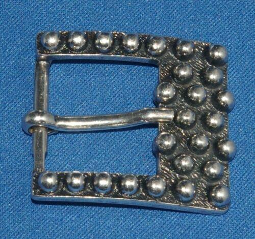 Vintage Style Chrome Black Finish Bubble Style Belt Buckle 30mm New Free Post E1