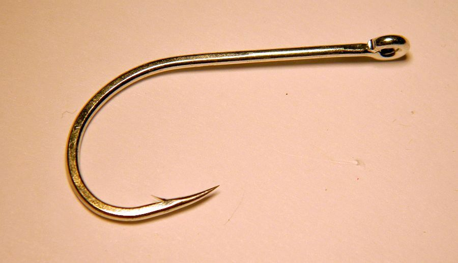 100 bulk pac - Gamakatsu SL12S Big Game Wide Gap Fly Hooks  size 6/0