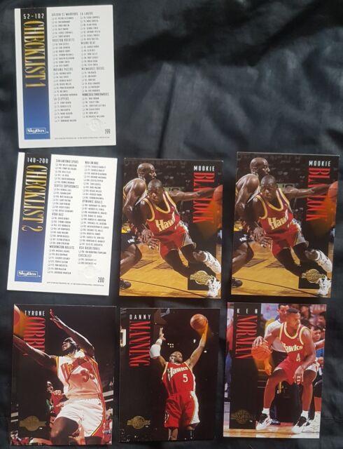 7 x Atlanta Hawks / Checklists Skybox 1994-95 NBA Basketball Cards