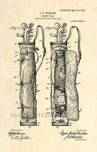 Official-Golf-Bag-US-Patent-Art-Print-Vintage-Caddy-Golf-Club-Antique-110