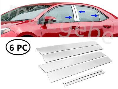For Toyota RAV4 2014-2017 Stainless Rear Window Pillars Decoration Cover Trims