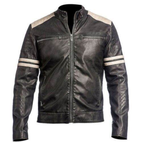 Super Biker Nova Retro motocicleta Men Jackets estilo Leather Vintage Genuine wwTaI
