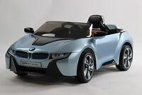 Licensed Bmw I8 Design 12v Twin Motor Kids Ride On Remote Control-blue