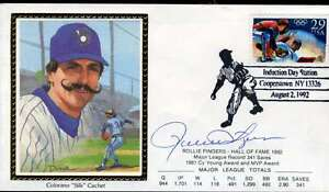 Rollie-Fingers-Hof-Jsa-Cert-Sticker-Fdc-First-Day-Cover-Authentic-Autograph