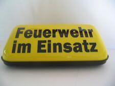 FEUERWEHR IM EINSATZ STARKER MAGNET DACHAUFSETZER DACHSCHILD MIT BLINKLICHT TOP!