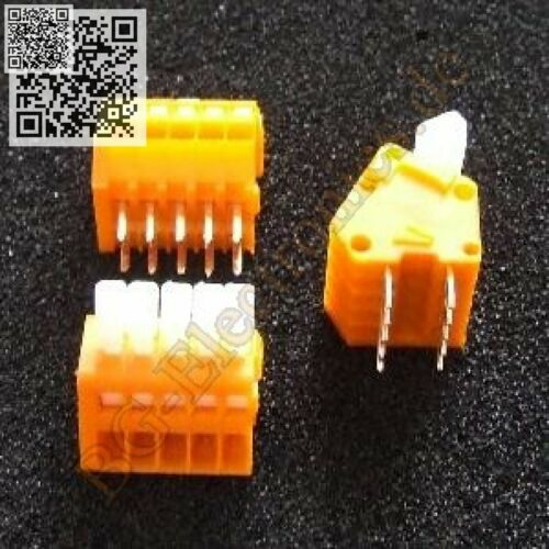 1 x placas los conectores o enchufes 1x5 polos un ángulo determinado 233-505 klemmenle Wago 1pcs