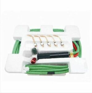 Top Jewelry Gas Torch Welding Soldering Little Torch Full w// Hoses /&5 tips u