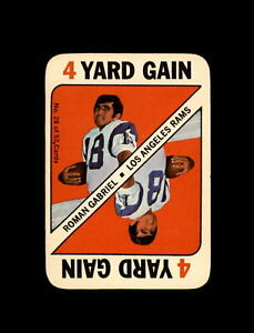 1971 Topps Game Football #17 Floyd LIttle (Broncos) VGEX+