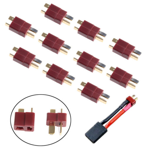 10 Pairs T Plug Male /& Female Deans Connectors Style For RC LiPo Battery New