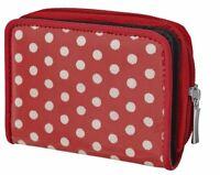 Womens Canvas Zipped Girls Purse Handbag Polka Dot Wallet Light Ladies Bag