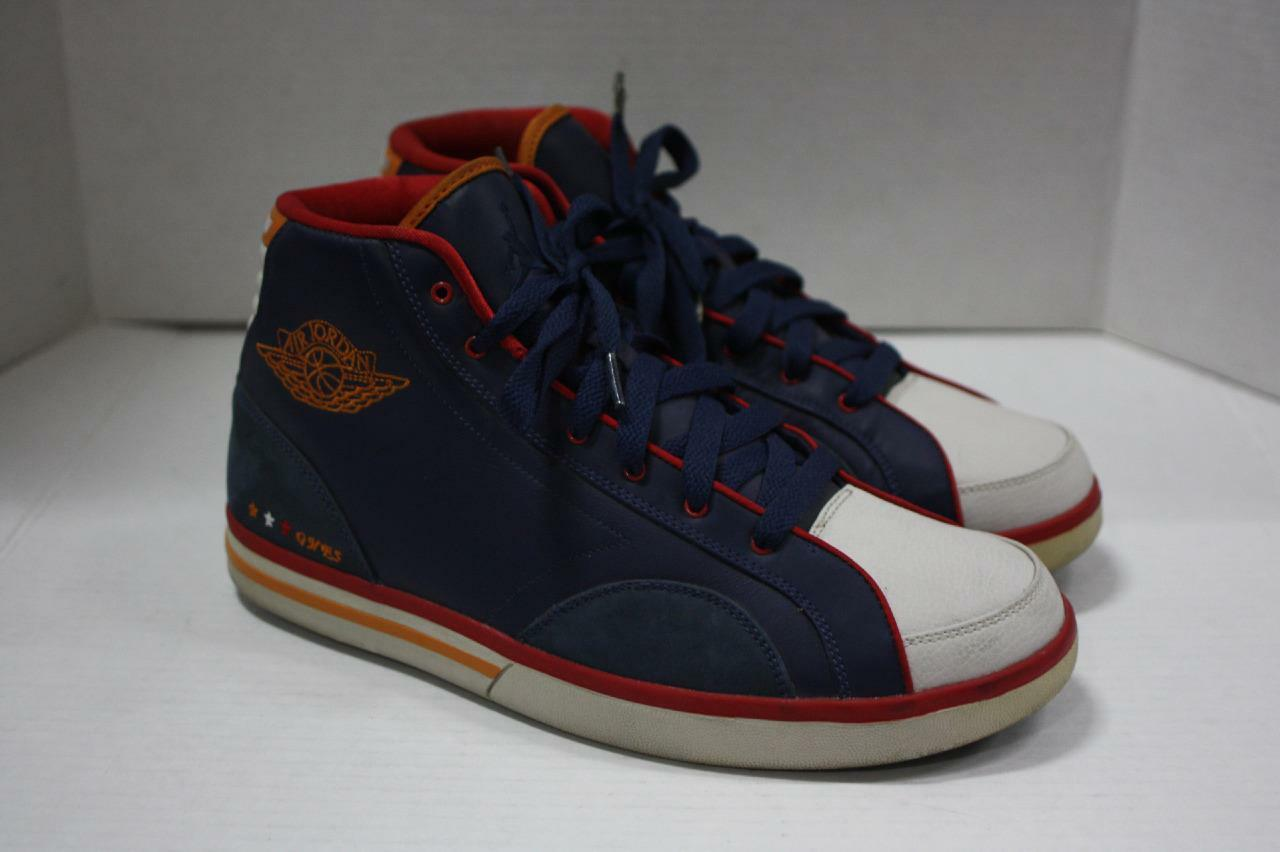 Air Jordan PHLY High Navy/White/Red/Sunset Basketball Shoes Sz 10.5 (342222 461)