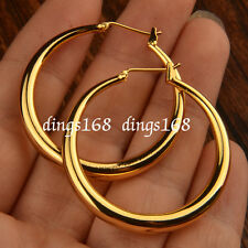 Ladies 18K Gold Filled Hypo-Allergenic Classic 35mm Medium size Hoop Earring HC3