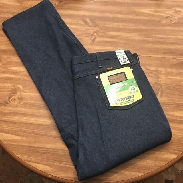 Vintage Wrangler 936den Denim Blue Jeans Size 34 X 33 Cowboy For Sale Online Ebay