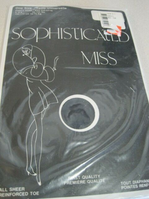 Pantyhose SOPHISTICATED MISS Vintage ALL SHEER One Size Navy Canada Sealed
