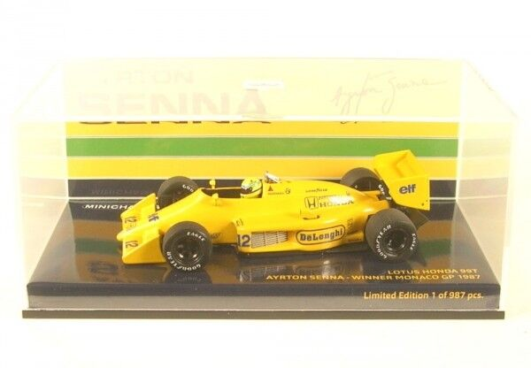 Lotus Honda 99t n. 12 Winner Monaco GP Formula 1 1987  Ayrton Senna