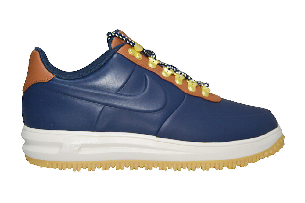 Homme Nike Lunar Force 1 Duckbottes Low - AA1122018 - Obsidian  Marron Trainers