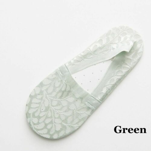 Fashion Women Summer Cotton Lace Antiskid Invisible Liner Low Cut Ankle Socks