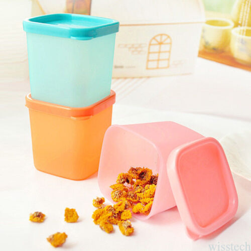 1//2 PC SMALL STORAGE BOXES LITTLE MINI BOX BABY FOOD SPICE CONTAINERS TRAVEL POT