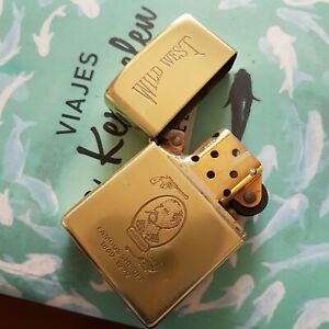 Vintage-Zippo-Solid-Brass-Commemorative-Wild-West-Famous-Sheriff-1932-1990