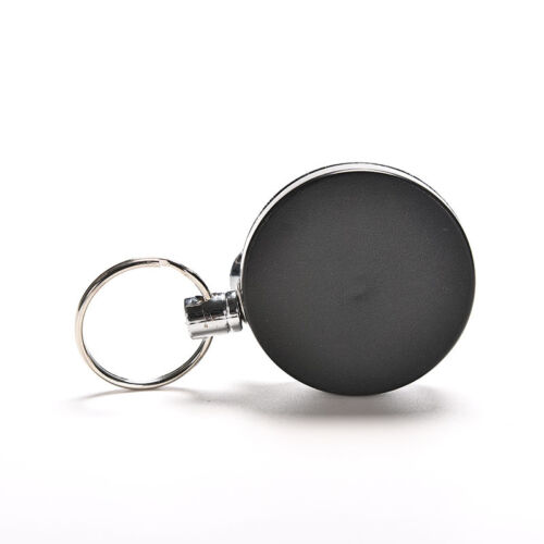 Retractable Pull Keychain Holder Reel Recoil Key Ring Belt Clip NEW BV!T Z5N VES