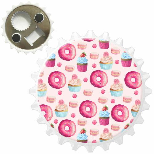 Treats Donut Doughnut Macaroon Cupcake Bottle Opener Fridge Magnet