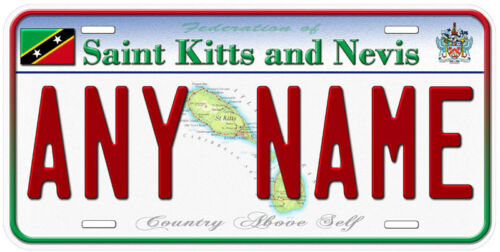 Saint Kitts and Nevis Any Name Text Personalized Novelty Car License Plate
