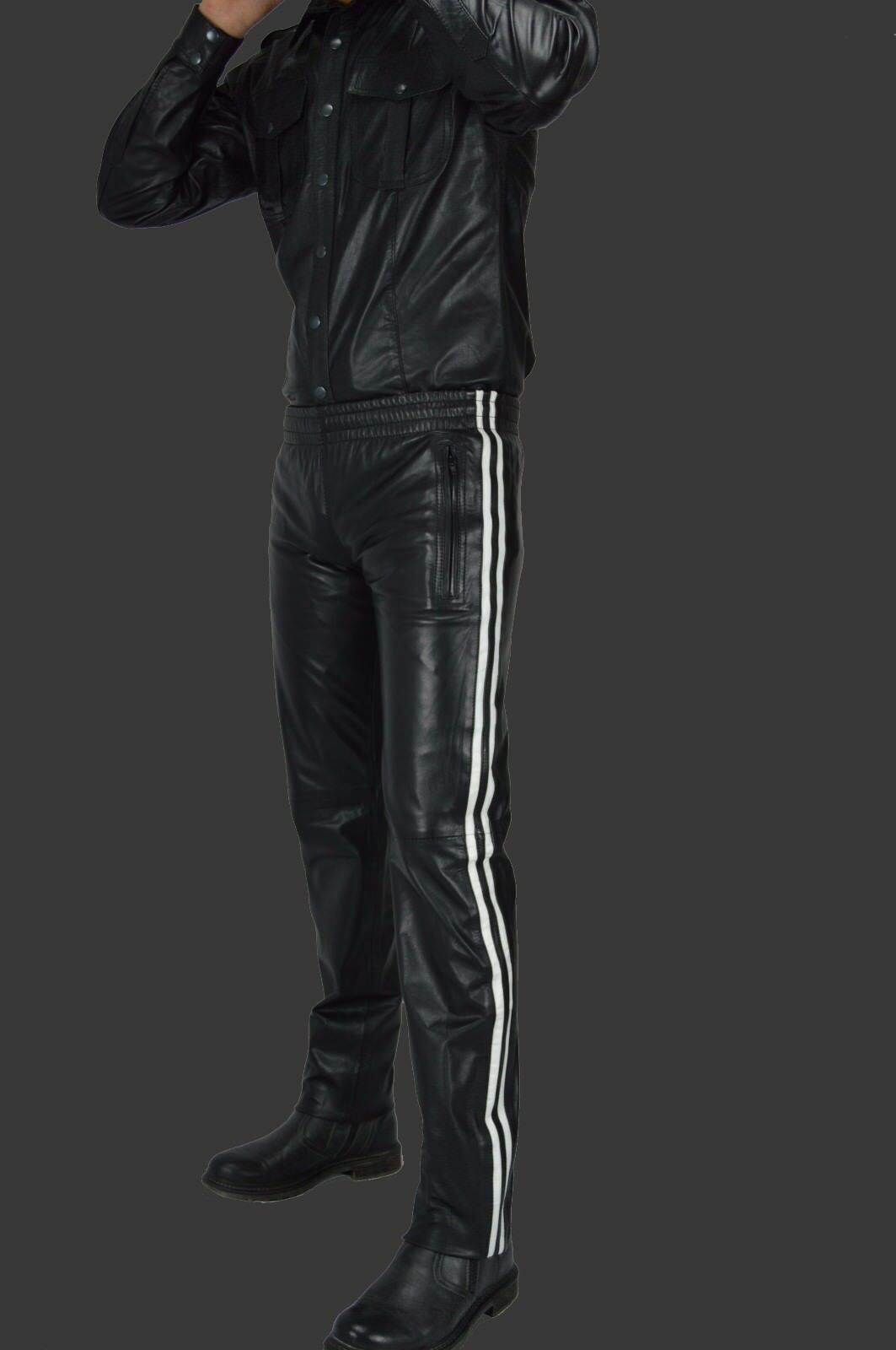 AW-739 AW-739 AW-739 Neue Trainingshose Napa Lederhose Hochwertige Leder Jogginghose Sporthose 211f00