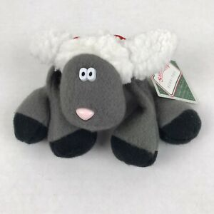 Vtg-1985-Hallmark-Sherman-Sheep-Lamb-Plush-Toy-Tag-Rodney-Reindeer-Friend-animal