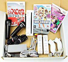Wii NINTENDO CONSOLE 2 giocatori Ragazze Bundle più 2 MICROFONI PER KARAOKE Plus Mario