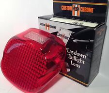 Taillight Lens Red Laydown Harley Davidson top window Custom Chrome NEW 1973-99