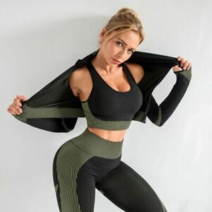 Details about  / Set Women Clothes  Gym Sport fitness Suit Running  Yoga top S-XL