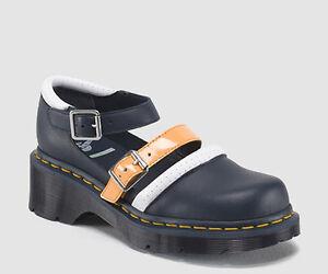 c7251c3181ae Dr. Martens LIMITED EDITION AGGY Agyness Deyn Strap Shoes Blue All ...