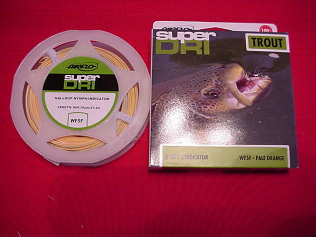 Air Flo Fly Line Kelly Gtuttioup NymphIndicator Fly Line WF5F GREAT nuovo