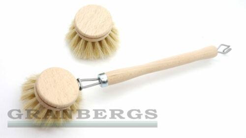 Iris Hantverk Dishbrush /& Refill Beech Wood Horse Hair Bristle Quality Swedish