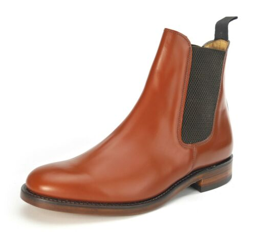 Charles Horrel Handmade in England Welted Weatherby Plain Chelsea Boots Brown