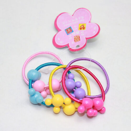 50Pcs Assorted Elastic Rubber Hair Rope Band Ponytail Holder for Kids Girl ZY